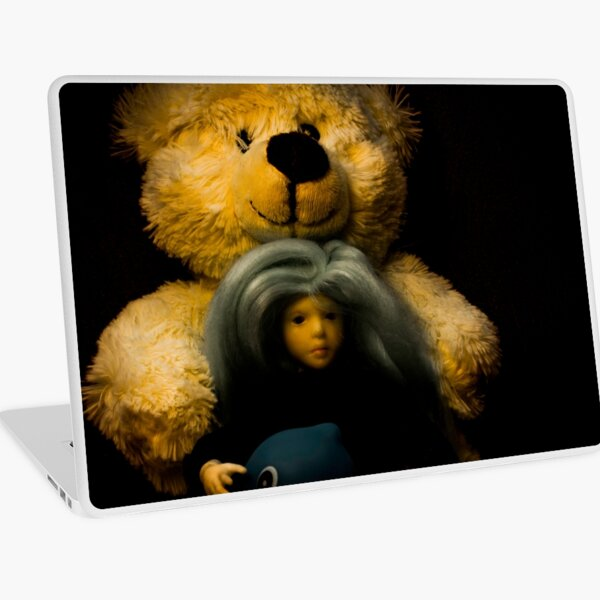 Teddy bear, doll and a rubber duck Laptop Skin