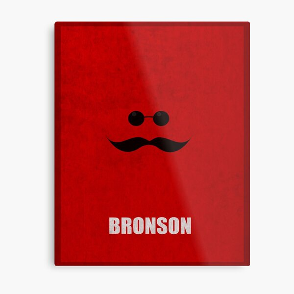 Bronson Minimal Metal Print