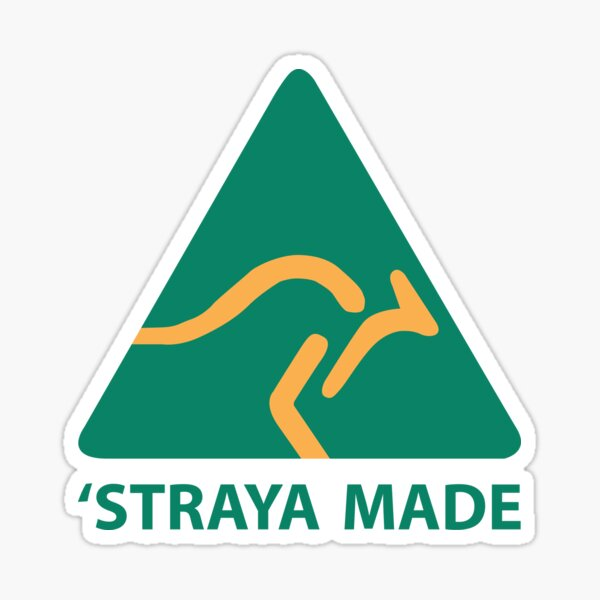 Straya Made Sticker