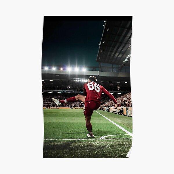 Mejor cartel Trent Football Player Arnold Corner Kick Liverpool Lámina Barcelona Vs Sport Champions 2019 Póster