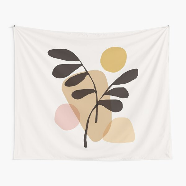 Abstraction_Bohemian_PLANTS_SUN_ART Tapestry