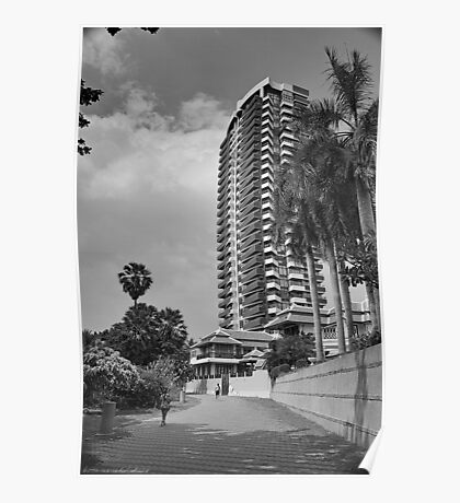 Just an HDR Monochrome - HDR Pathway in Pattaya Poster