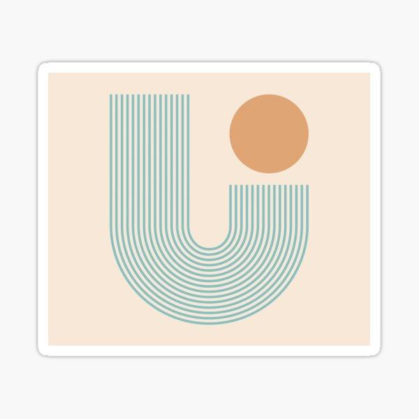 Abstraction_SUN_LINE_VISUAL_ART_002A Sticker