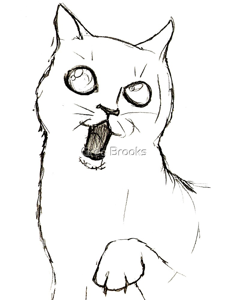 Cat Sketch by Greg Brooks