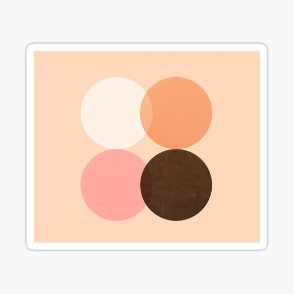 Abstraction_CIRCLES_GEOMETRIC_SHAPE_DOTS Sticker