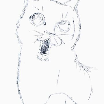 Cat Sketch White by absynth
