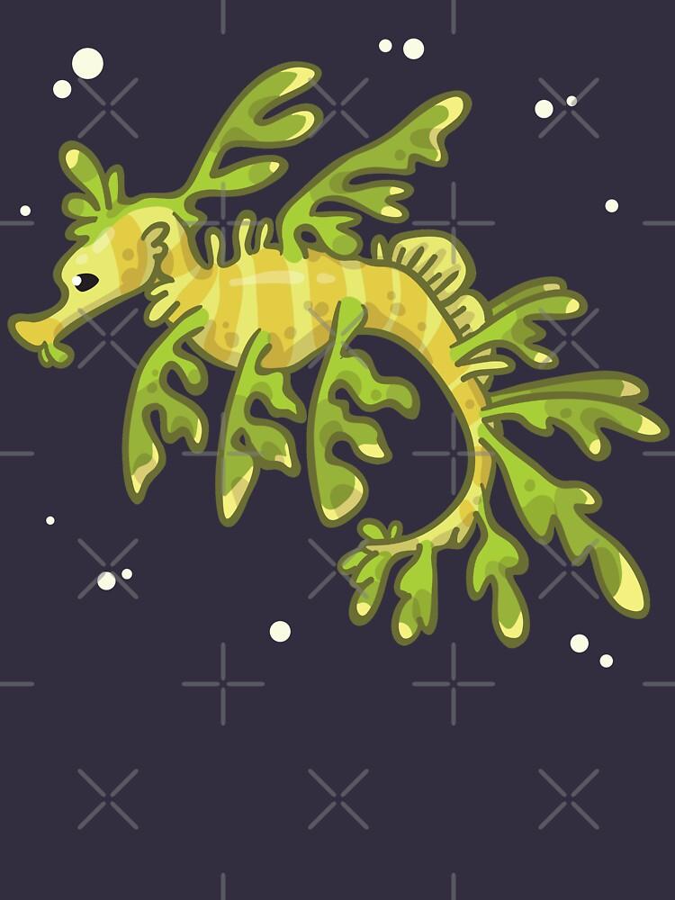 Leafy Seadragon (Huevember 2018) by bytesizetreas