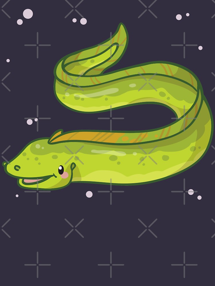 Green Moray Eel (Huevember 2018) by bytesizetreas