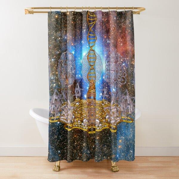 Crystal Stargate DNA Healing Code Shower Curtain