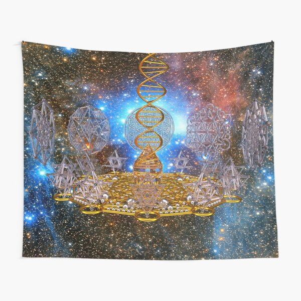 Crystal Stargate DNA Healing Code Tapestry