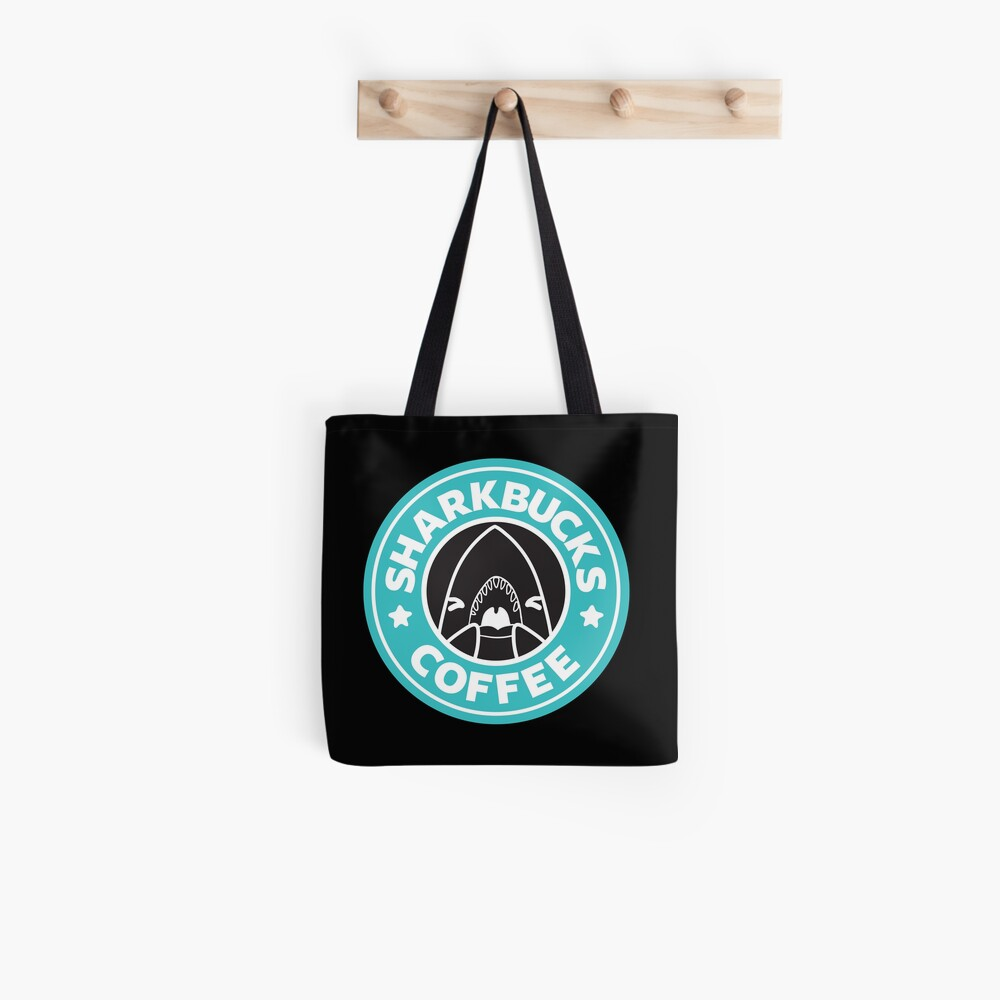 Sharkbucks (Teal) Tote Bag