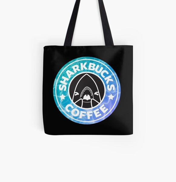 Sharkbucks (Water) All Over Print Tote Bag