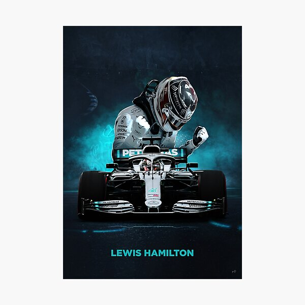 Affiche Lewis Hamilton Formula 1 Impression photo