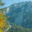 Cable Car at Rauschberg Mountain by gazmercer