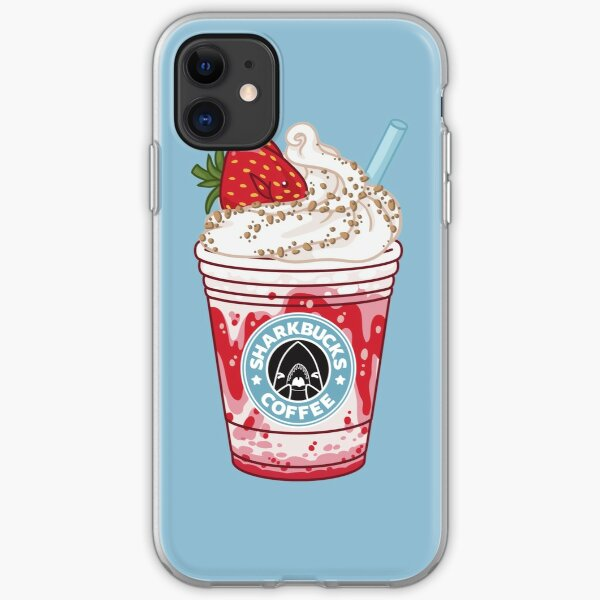 Strawberry Dottyback // Sharkbucks Frappucino iPhone Soft Case