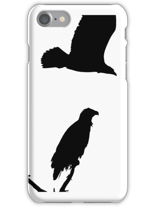 eagle flying off iphone by dedmanshootn