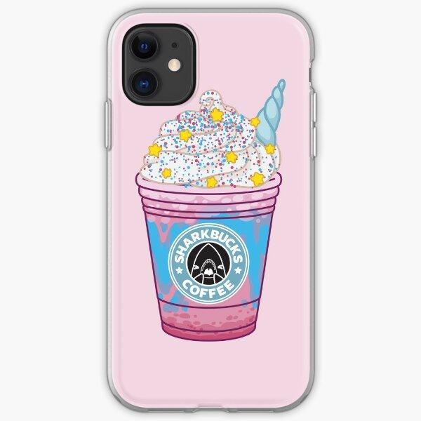 Magical Narwhal // Sharkbucks Frappucino iPhone Soft Case