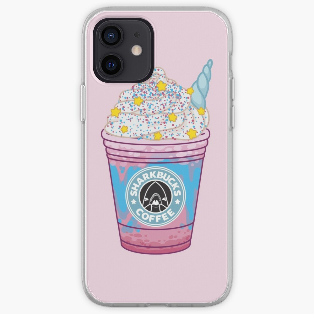 Magical Narwhal // Sharkbucks Frappucino iPhone Case & Cover