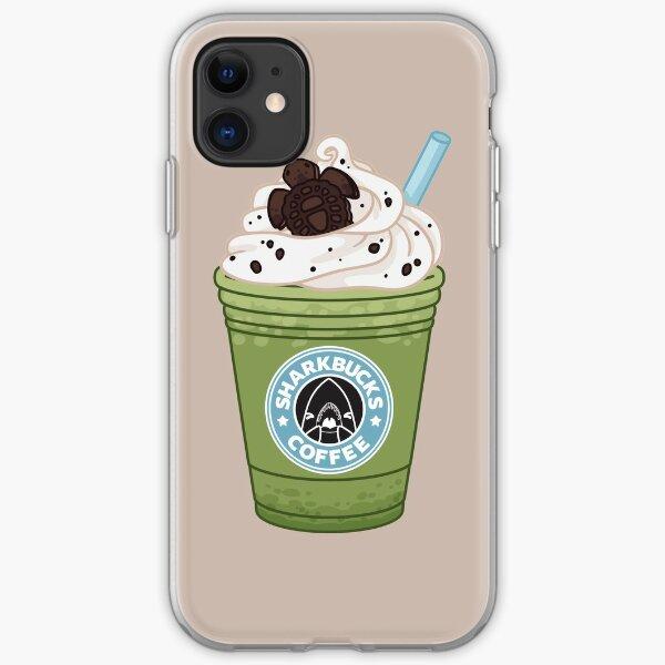 Matcha Green Sea Turtle // Sharkbucks Frappucino iPhone Soft Case