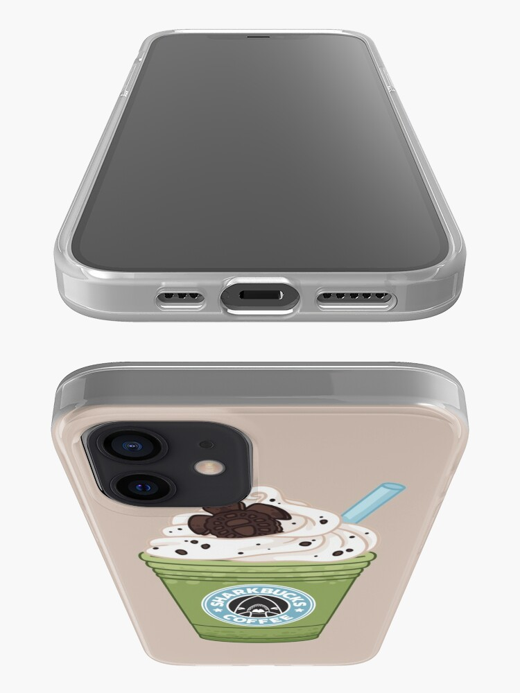 Alternate view of Matcha Green Sea Turtle // Sharkbucks Frappucino iPhone Case & Cover