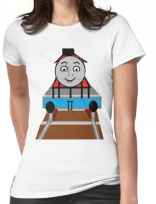 Toddlers Cartoon Lyle the Toy Train Engine Tshirt Womens Fitted T-Shirt