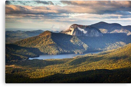 Table Rock Sunrise - Caesar's Head State Park Landscape by Dave Allen