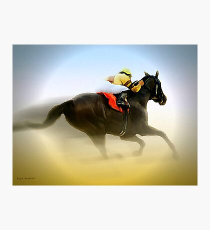 Horse and Rider Photographic Print
