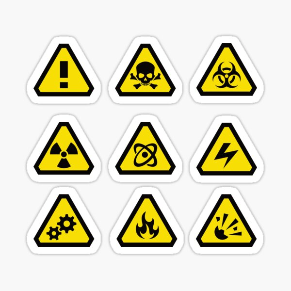 Assorted Safety Signs  Sticker