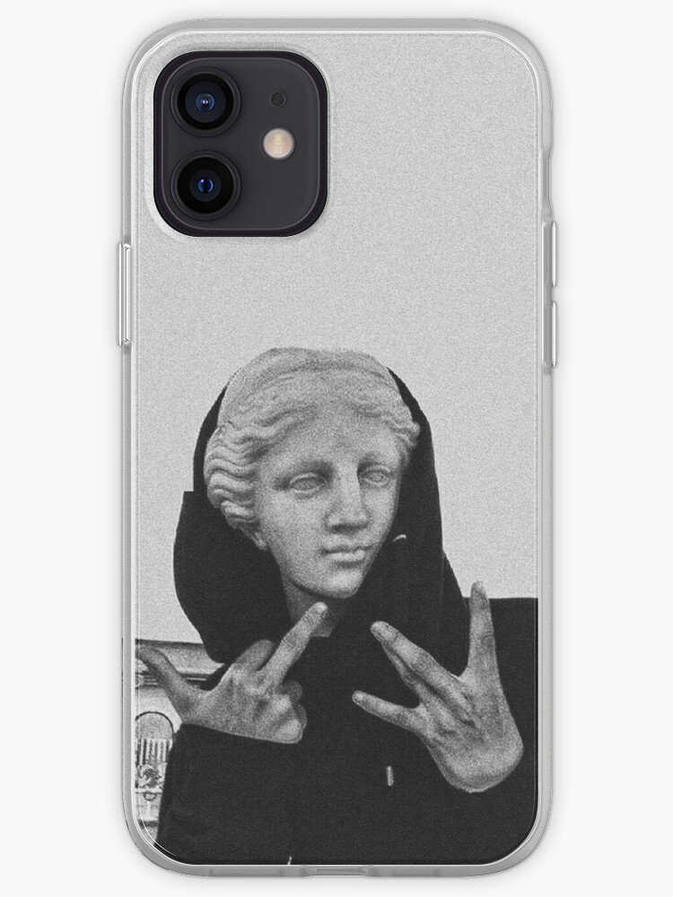 Middle Finger Illustration Personalised Initals Feminist iPhone Case THE FINGER iPhone Case Custom Phone Case Gifts For Her