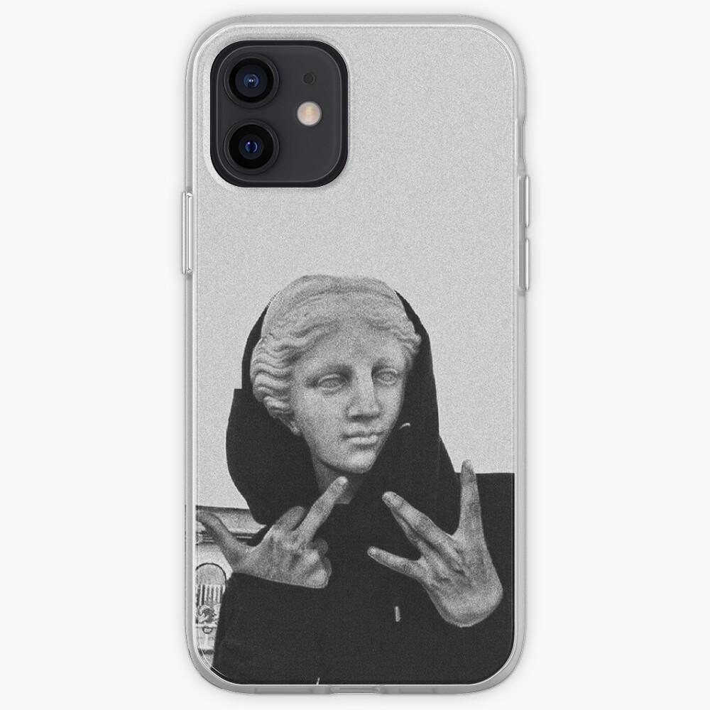 Greek statue Wearing Hoodie iPhone Case & Cover