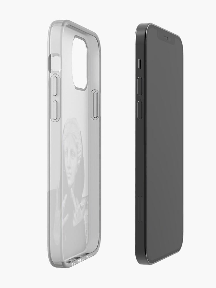 Alternate view of Greek statue Wearing Hoodie iPhone Case & Cover
