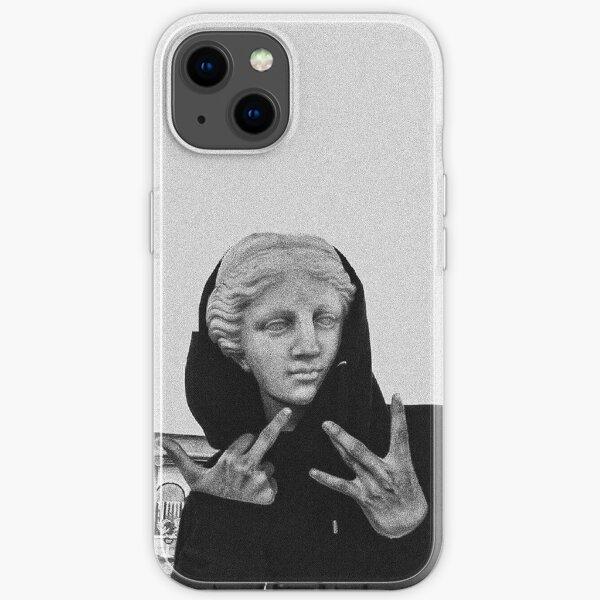 Greek statue Wearing Hoodie iPhone Soft Case
