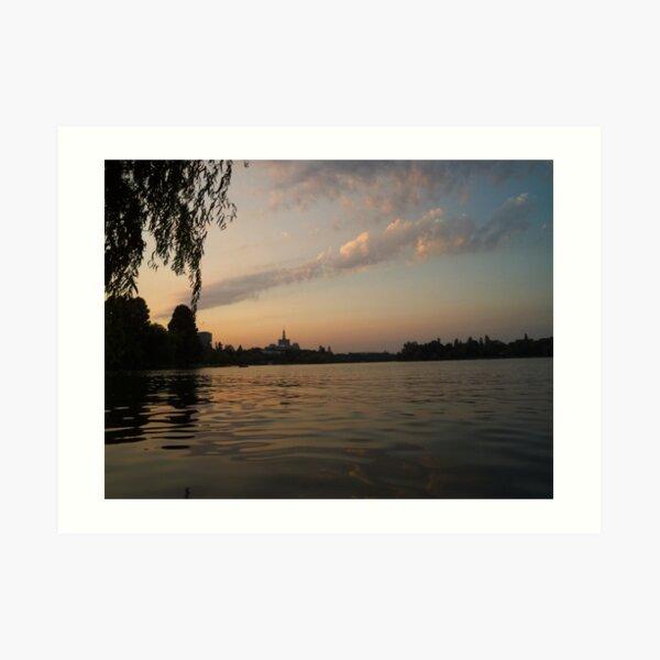 Sunset in Bucharest (2) Art Print