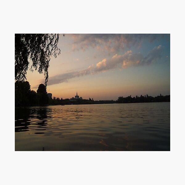 Sunset in Bucharest (2) Photographic Print