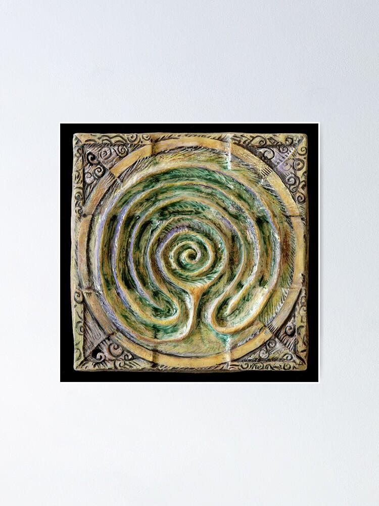 Alternate view of Spiral nine: toward center Poster