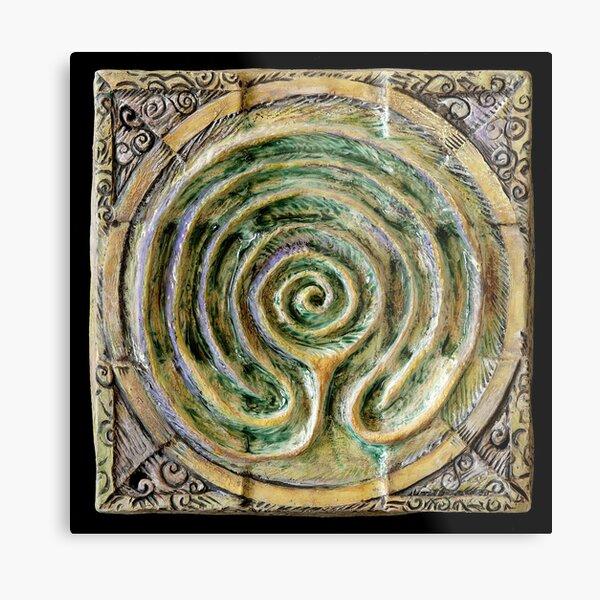 Spiral nine: toward center Metal Print