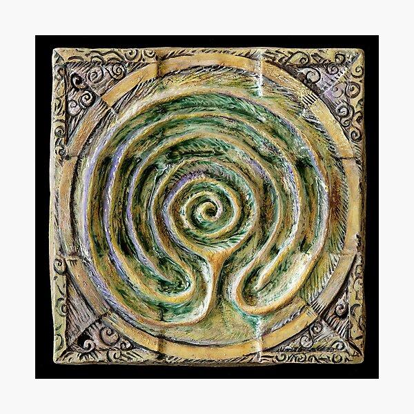 Spiral nine: toward center Photographic Print