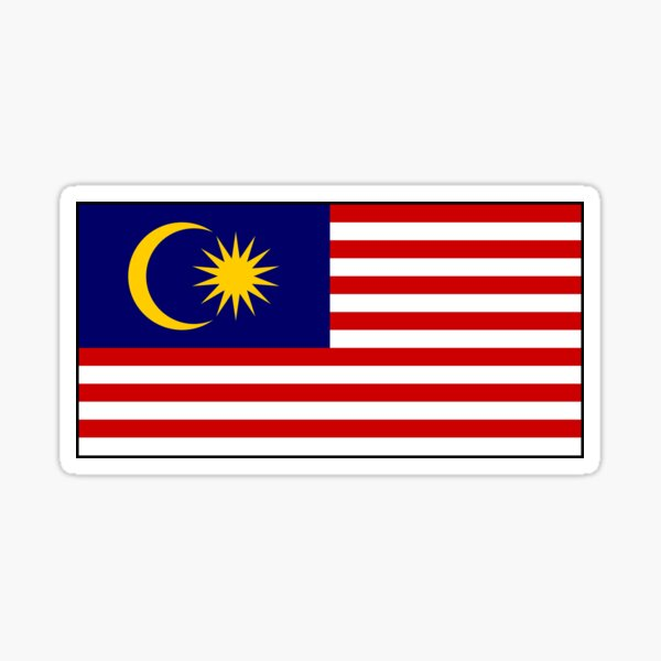 Malaysia Flag Stickers, Gifts and other Products Sticker