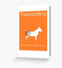 Trainspotting Minima Greeting Card
