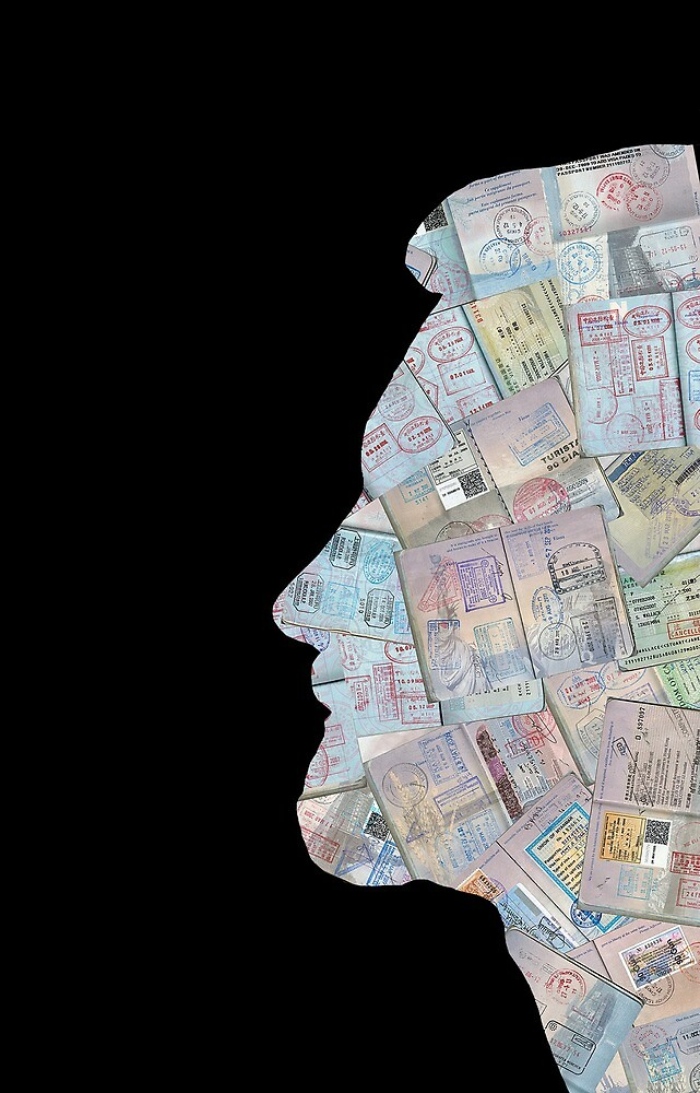 Passport Silhouette Profile by ThatsCoolArt