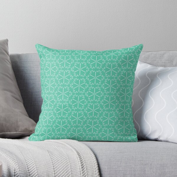 Biscay Green #4 Throw Pillow