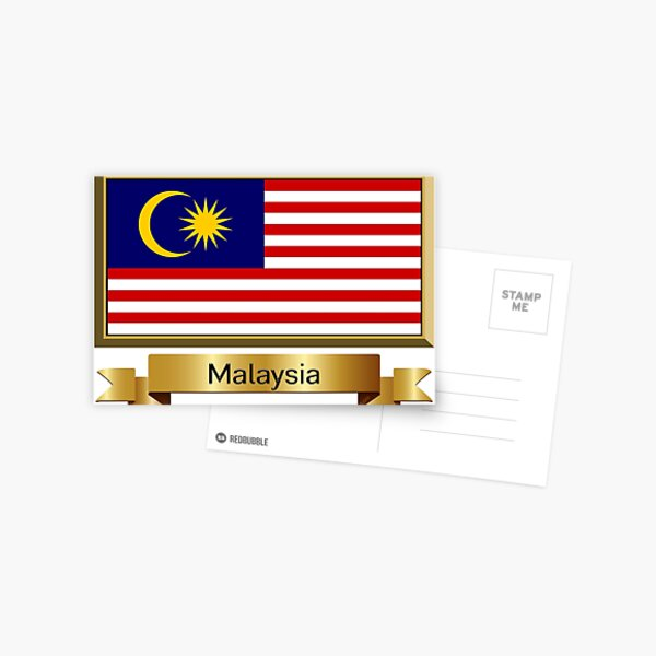 Malaysia Flag Stickers, Gifts and Products - Named Postcard