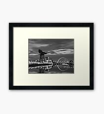 Squinty Bridge Glasgow Framed Print