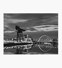 Squinty Bridge Glasgow Photographic Print