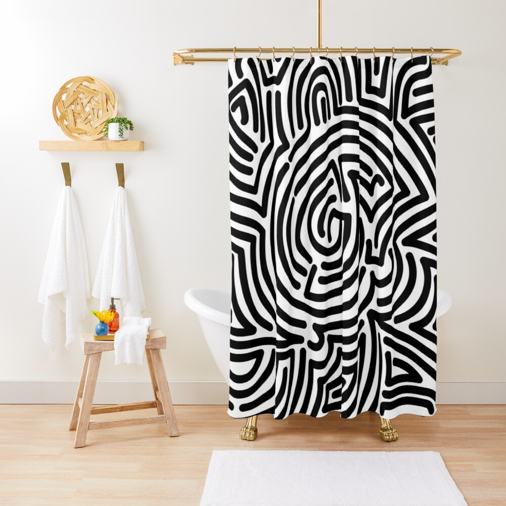 Haring Style #1 Shower Curtain
