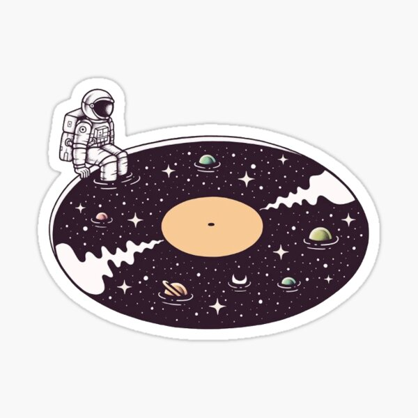 Space Music Sticker