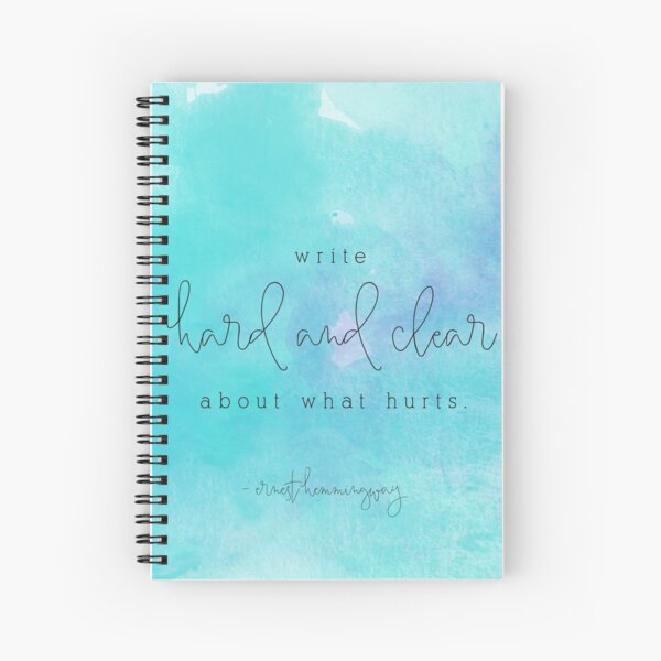 Write hard and clear about what hurts Spiral Notebook