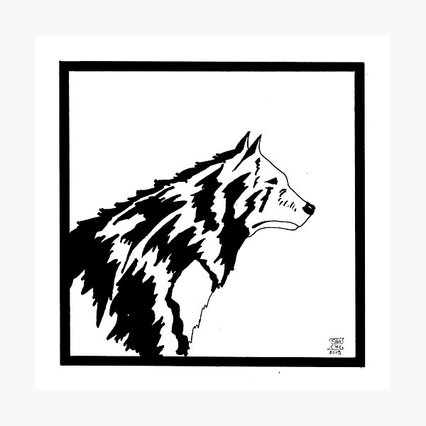 loup médiéval Impression photo