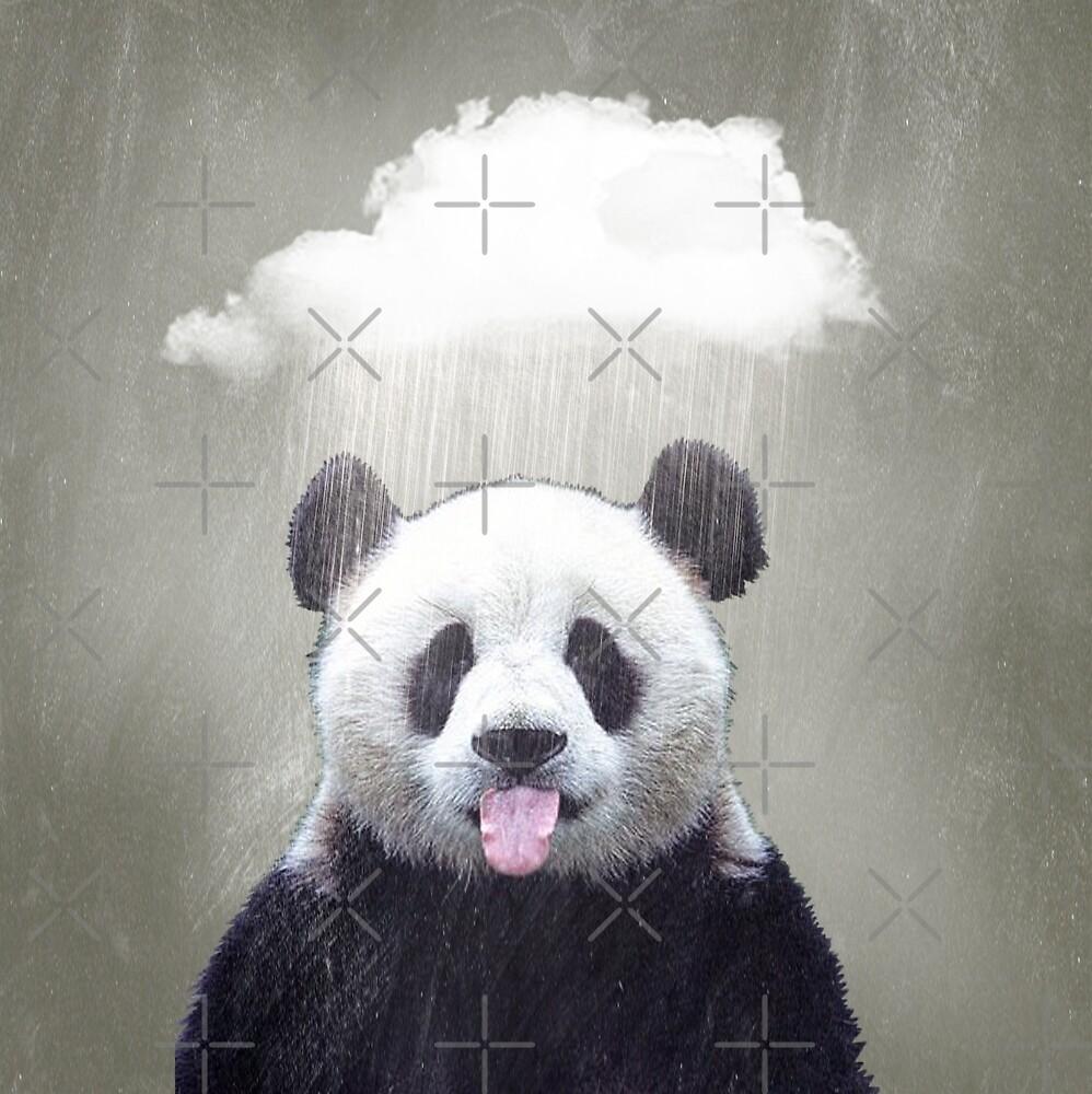 Panda Rain by Vin  Zzep
