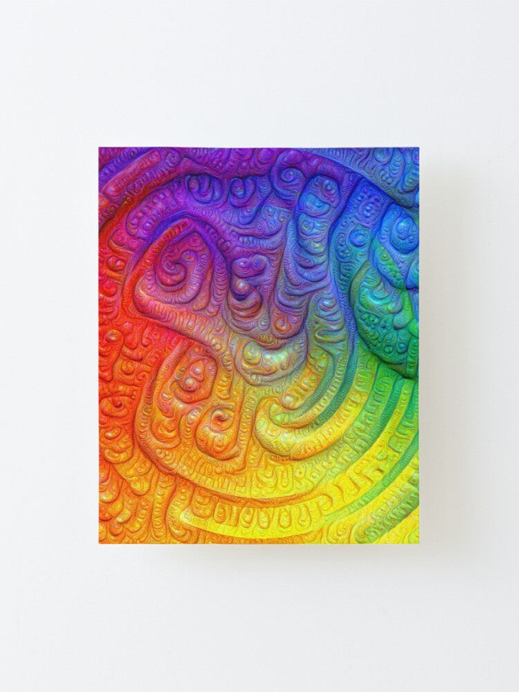 Alternate view of Color Foam #DeepDream Mounted Print